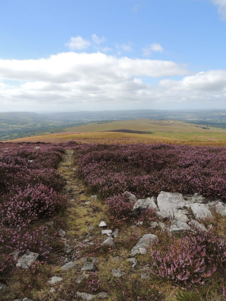 Tair Carn overlooking the Amman Valley. Photo Rob Parry