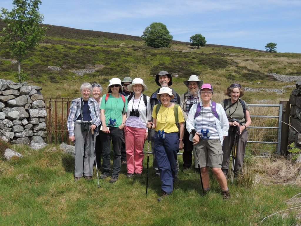 Volunteers on a wildlife walk in the Amman Valley